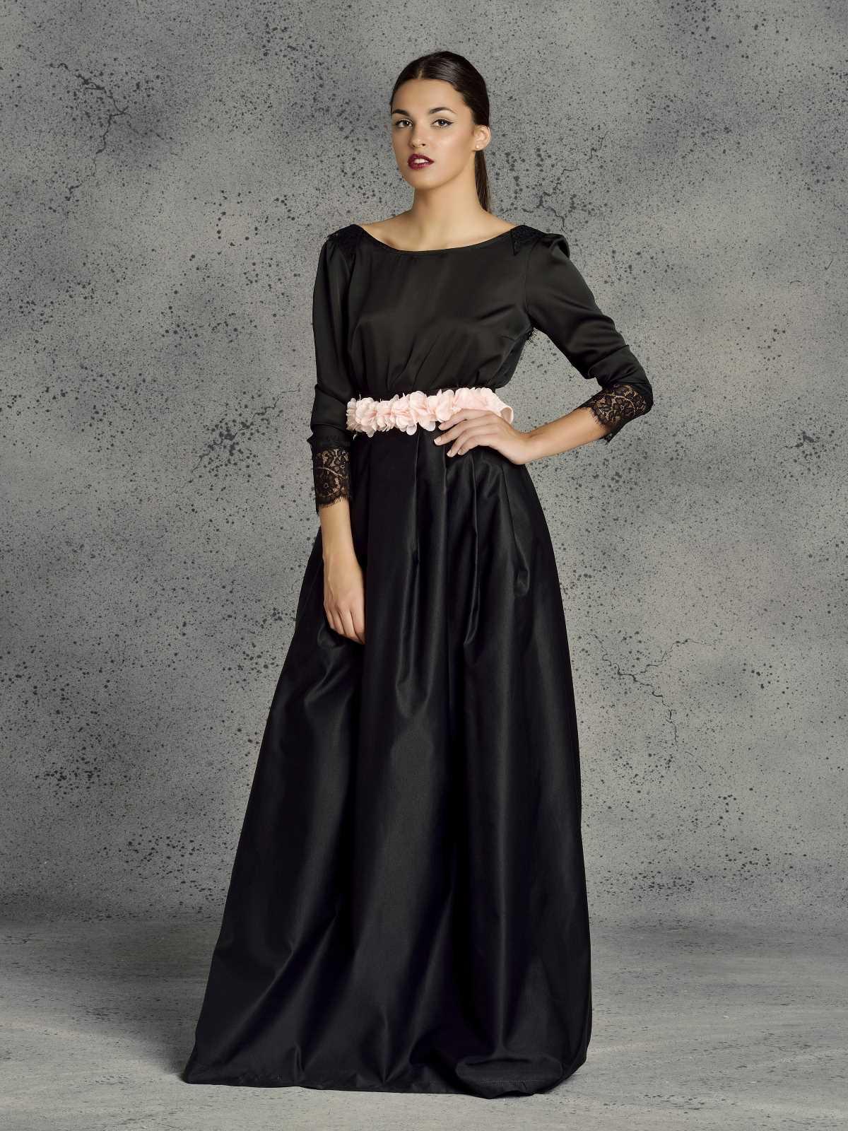 blusa de mujer color negro para fiesta de noche
