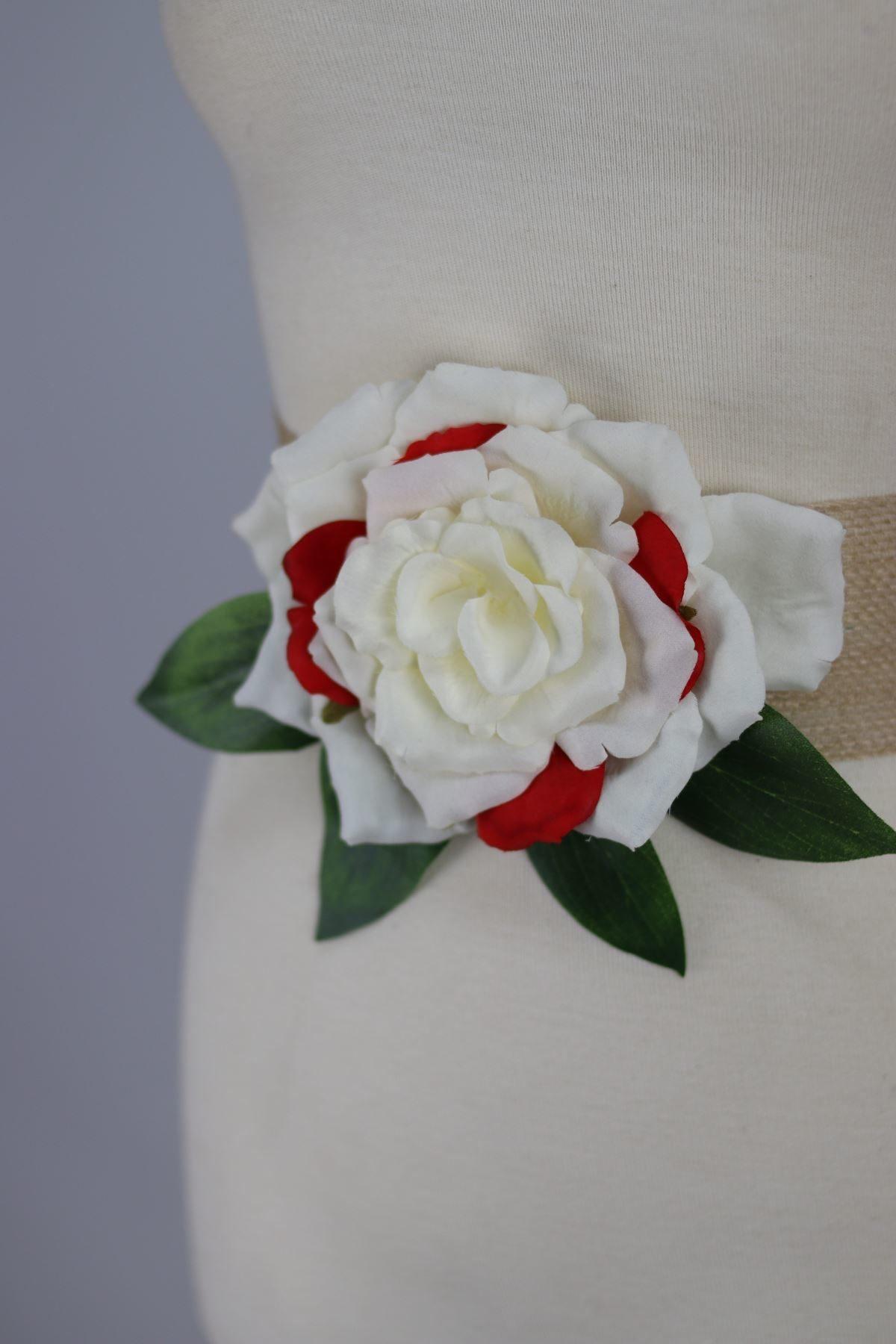 Cinturon gardenia para vestidos estampados diseñado por Fatima Angulo