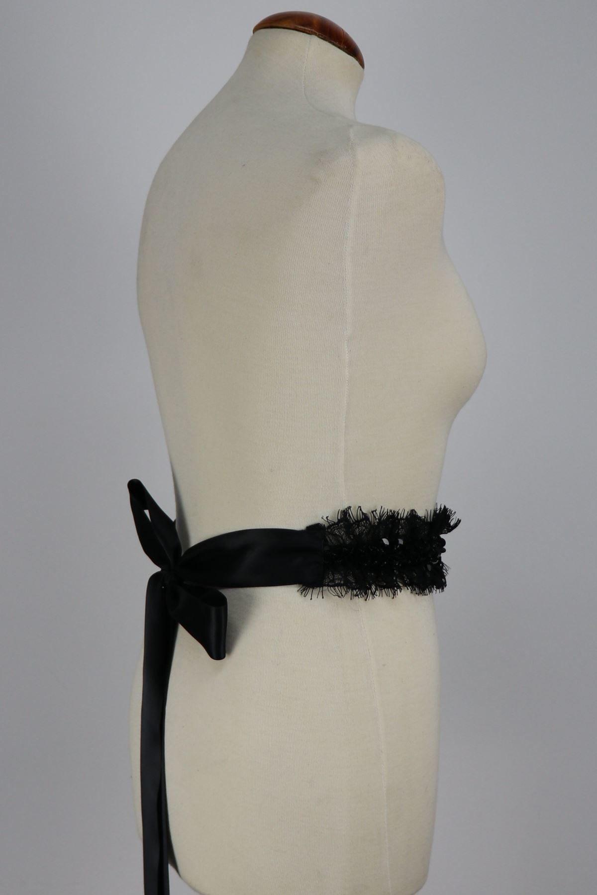cinturon de mujer negro Petunia