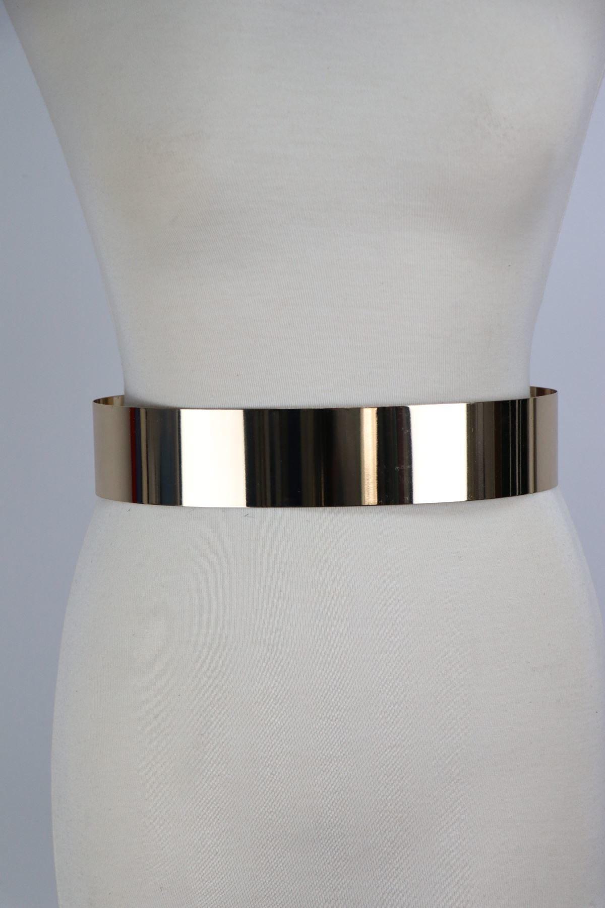 cinturon mujer color oro reflejo