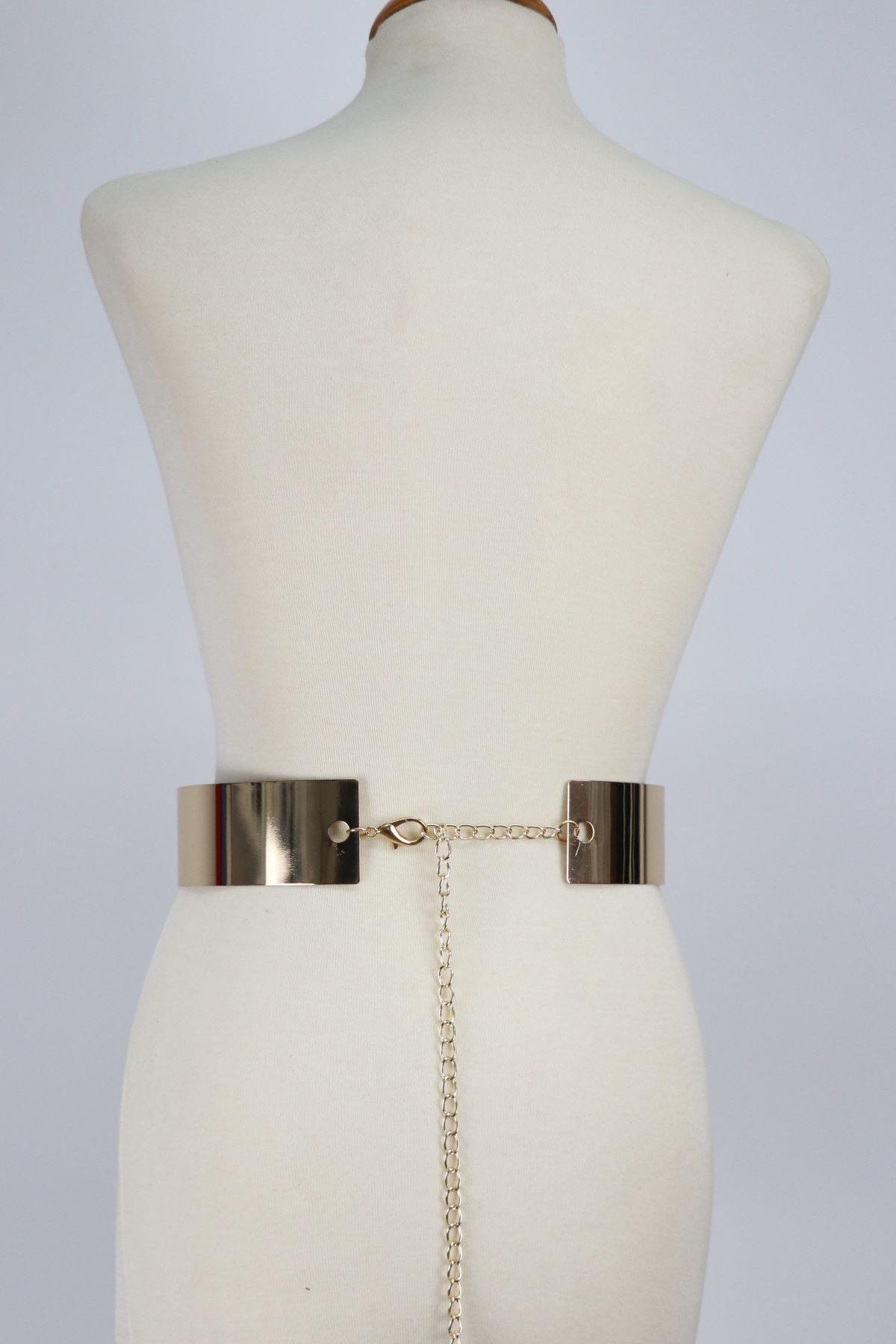 cinturon para vestido de fiesta con reflejo metalico