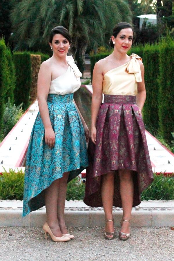 falda corta corte asimetrico para fiestas