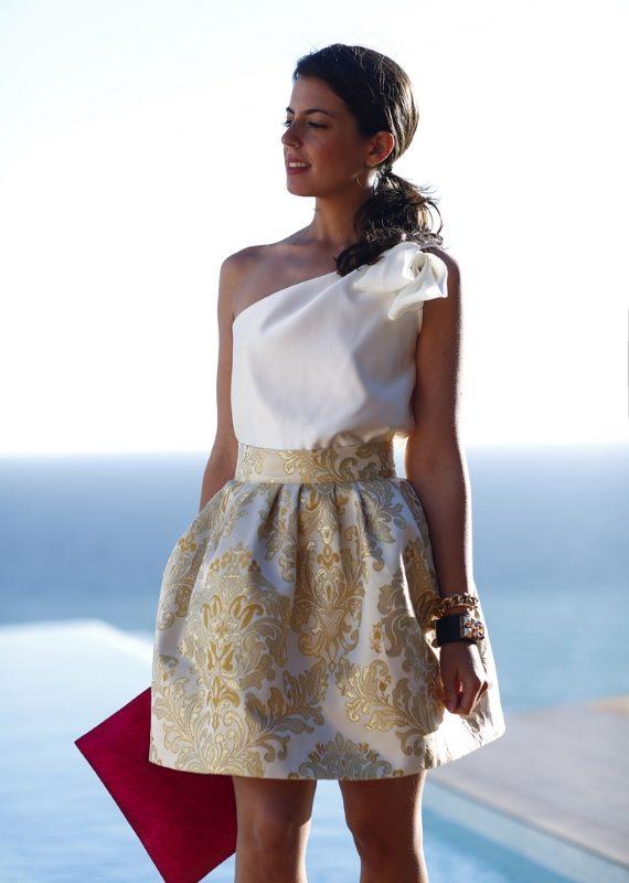 vestido corto fiesta para Silvia Navarro