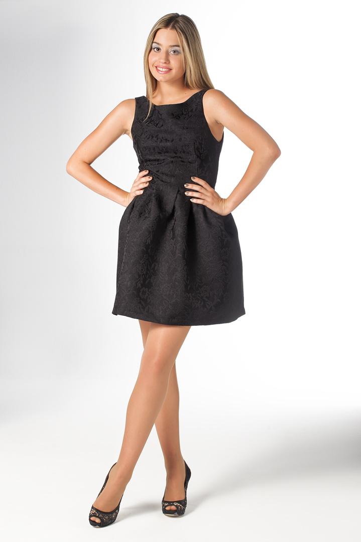vestido corto de fiesta negro para fiestas o ceremonias