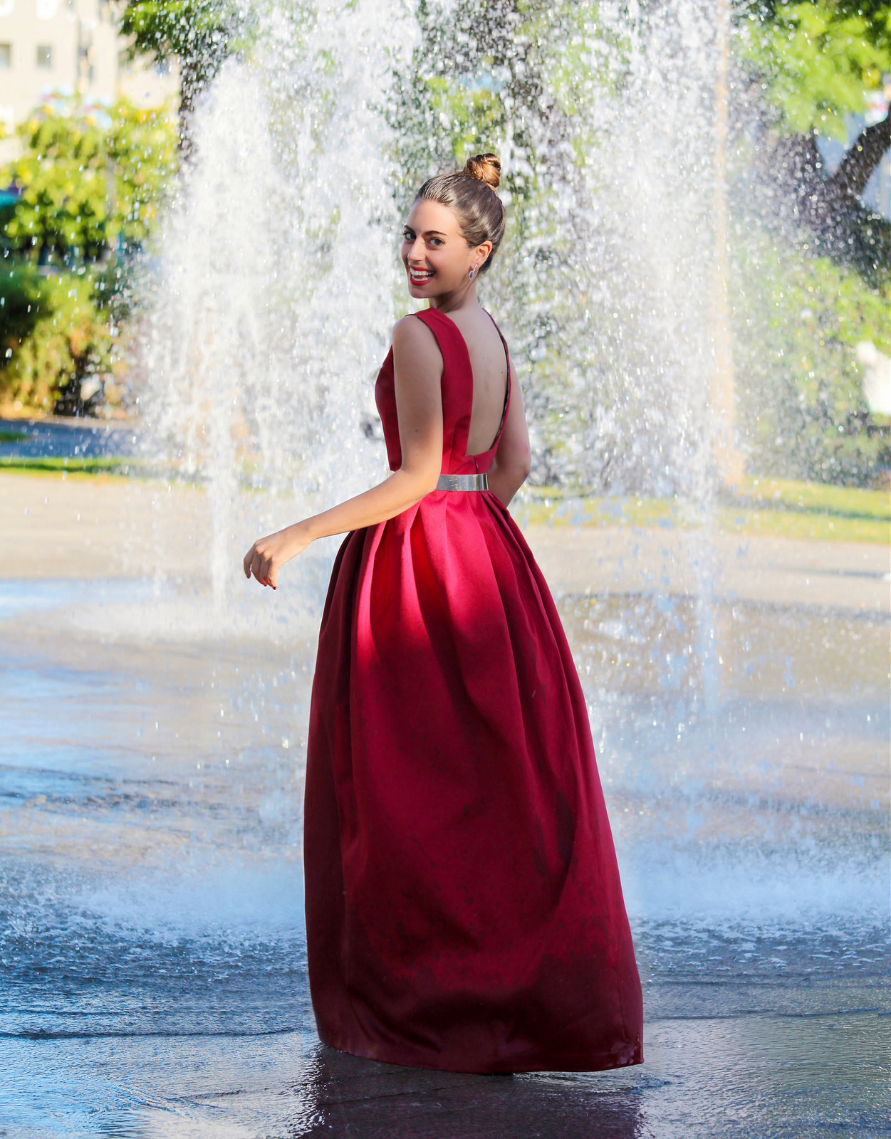 Vestido Fiesta Elegante Largo Rojo Valentino Modelo Silvia