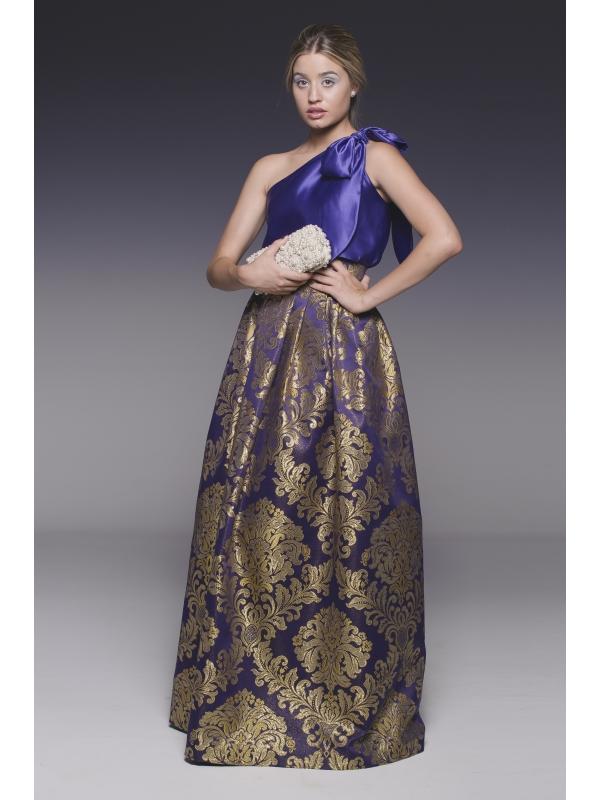 falda larga pasiegas morada para ceremonias o eventos