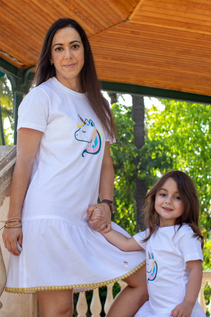 Vestido Unicornio Madre e Hija